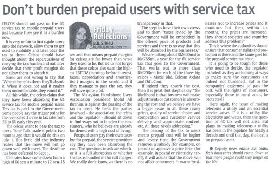 Service Tax Prepaid Users 540x333 Service Tax Dan Pre Paid Phones Di Malaysia