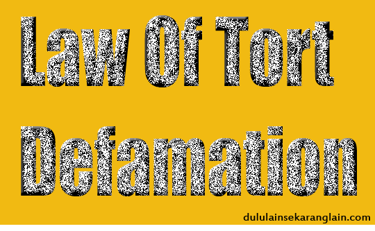 Law-Of-Tort-Defamation