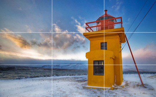 lighthouse rule of thirds 540x338 Prinsip Asas Fotografi   Rule Of Thirds
