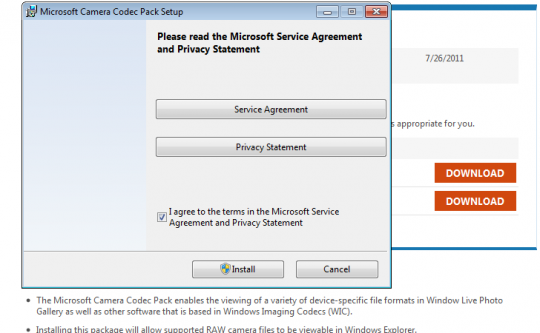 InstallCodecPack 540x333 Bagaimana Untuk Membuka Dan Melihat RAW File Di Windows 7?