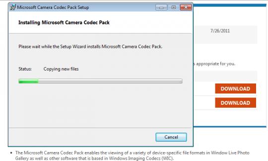 InstallCodecPack2 540x324 Bagaimana Untuk Membuka Dan Melihat RAW File Di Windows 7?