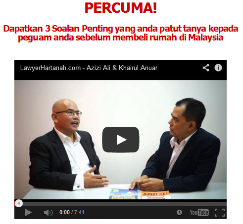 Lawyer hartanah video