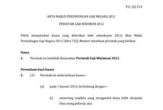 gaji minima dulu lain sekarang lain 540x365 Gaji Minima Bagi Pekerja Di Malaysia