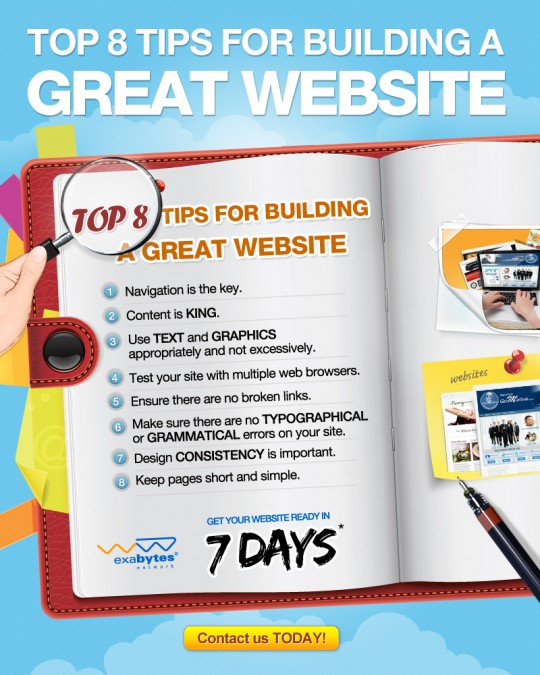 Building a website 540x675 Top 8 Tips For Building A Great Website!