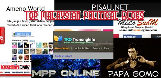 Top Malaysian Political Blogs