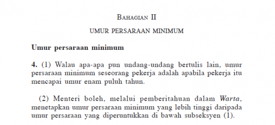 Umur Persaraan Minimum