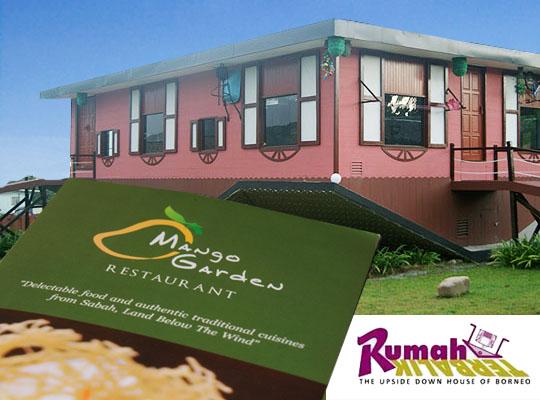 Mango Garden Restaurant of Rumah Terbalik Borneo