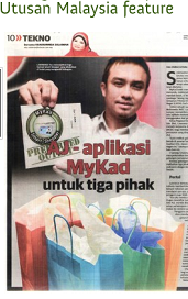 MyKad Smart Shopper at Utusan photo