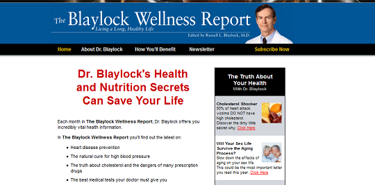 Blaylock Wellness Report Healthy Issues   The Blaylock Wellness Report