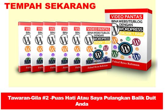 Bina Laman web wordpress Video Bina Laman Web WordPress Dengan Mudah