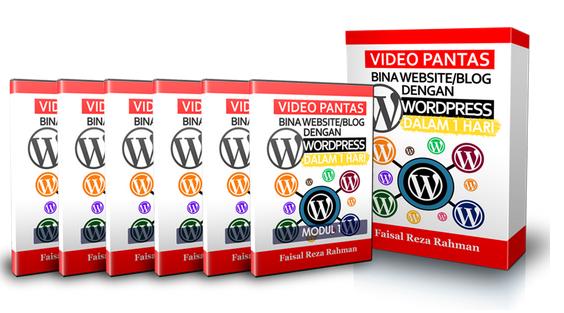 Video Bina Laman Web WordPress Dengan Mudah
