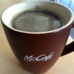 Enjoying Caffè Americano At McCafe