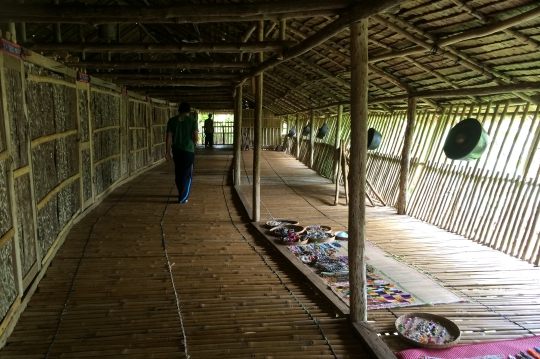 Inside the longhouse