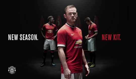 Manchester United Unveiled 2014-2015 Home Kit