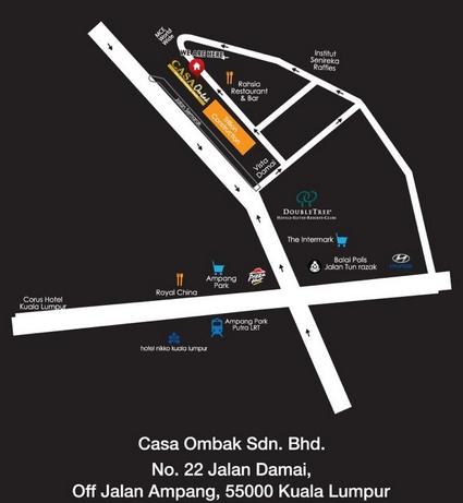 casa ombak map Buffet Ramadhan Casa Ombak: Ramadhan Buffet & Meal Deals