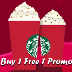 Starbucks Buy 1 free 1