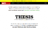 Malaysian THESIS Blogs