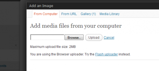 maximum-upload wordpress