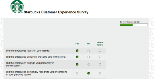 Starbuck Survey Qs