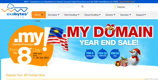 Year End SALE! Get .MY Domain From RM8 Only!