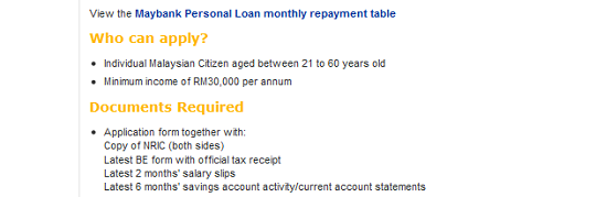 Maybank Personal Loan