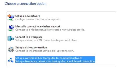 ad hoc connect