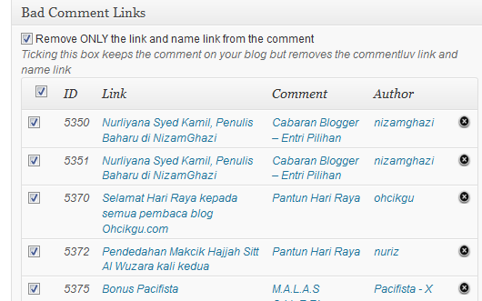 Bad Comment Links