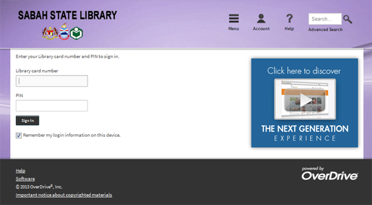 Sabah State Library E-Books