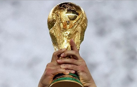 Lifting The FIFA World Cup Trophy