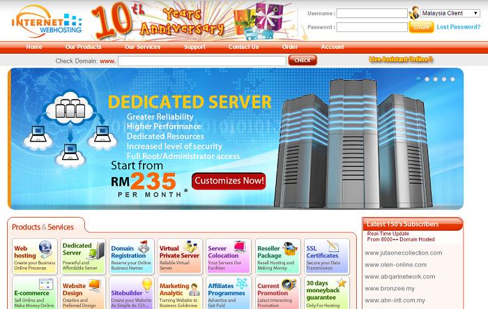 Malaysia Internet-Webhosting