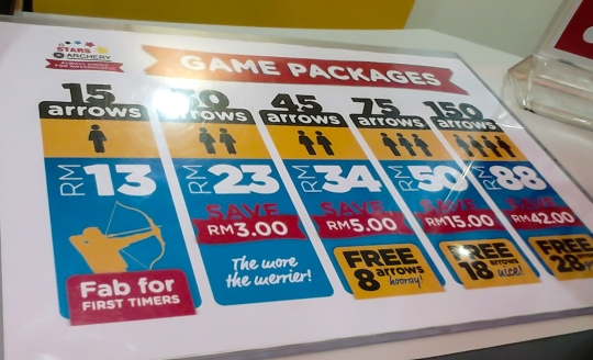 game package at Stars Archery 1Borneo