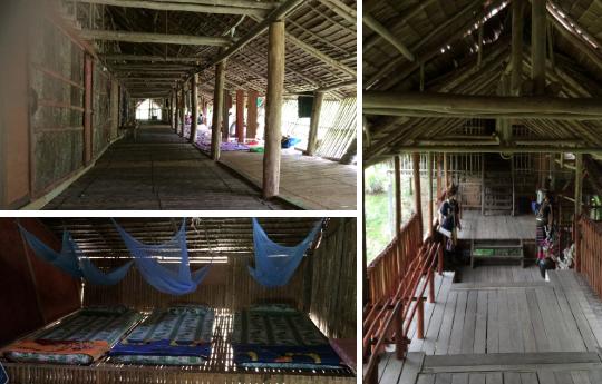 Inside Maranjak Longhouse