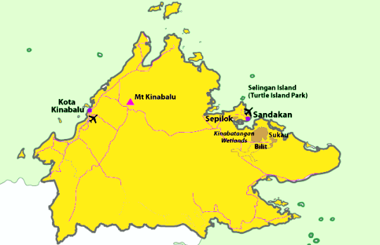 map of sandakan
