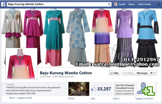 Baju Kurung Wanita Cotton