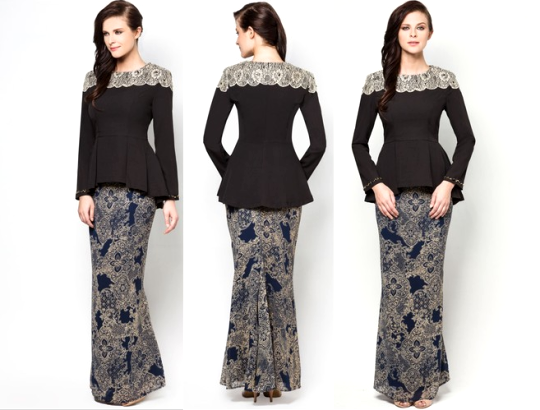 Black Chantilly Chatalina Baju Kurung
