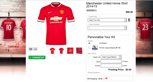 Manchester United jersey online