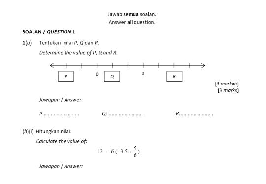 soalan matematik