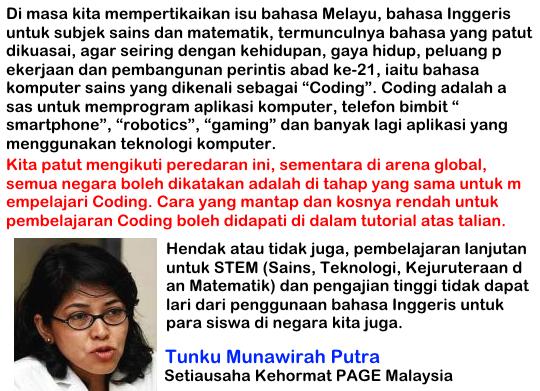 Setiausaha Kehormat PAGE Malaysia
