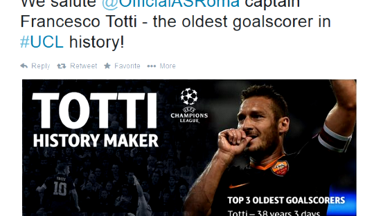 Oldest Player To Score In Champions League