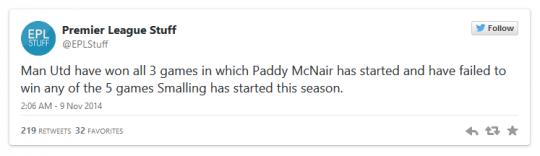Paddy McNair Tweet
