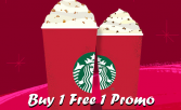 Starbucks Buy One Free One Promo