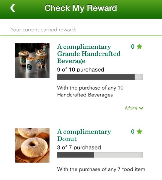 Starbucks reward 2