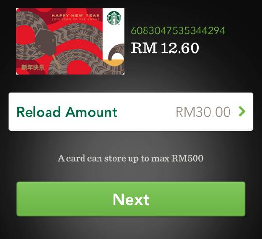 starbucks mobile app reload