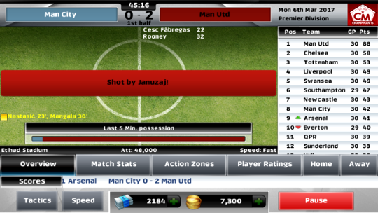 Championship Manager play