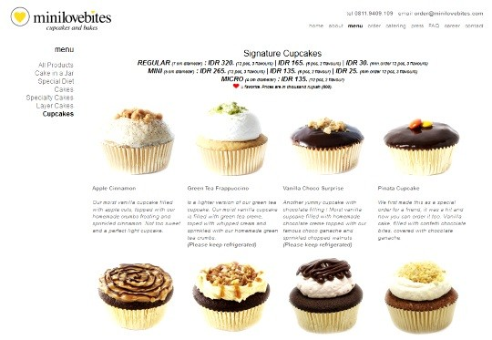 MiniLovebites cupcakes