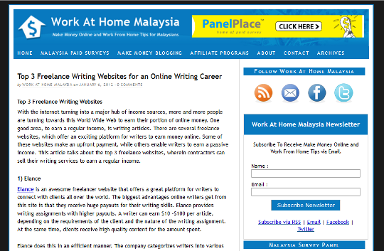 work at home malaysia