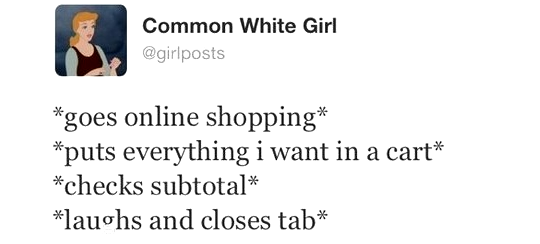 online shopping tweet