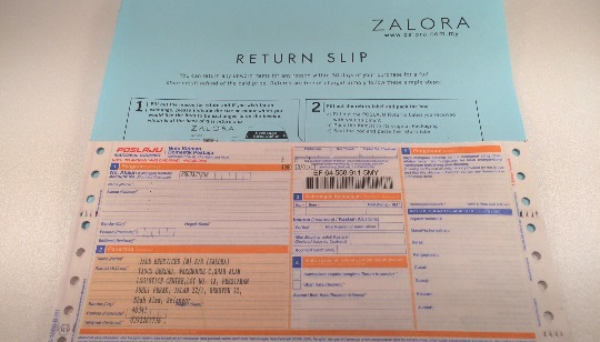 pos laju and return slip