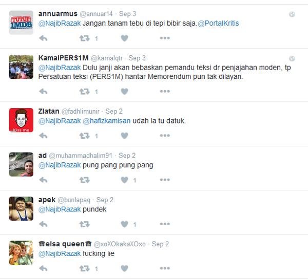 Najib twitter timeline