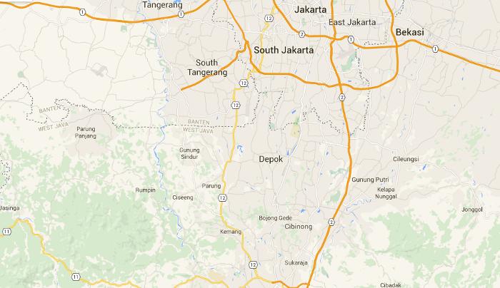 map of depok